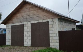 Фундамент для гаража из пеноблоков