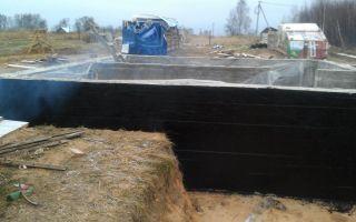 Ремонт гидроизоляции фундамента жидкой резиной