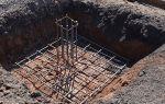 Вертикальное армирование столбчатого фундамента