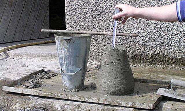 испытанеи бетона на пластичность