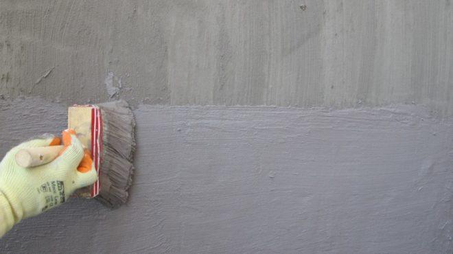 нанесение обмазочной гидроизоляции на цементной основе